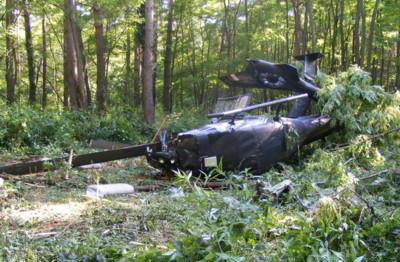 vadkárfelmérés közben lezuhant helikopter