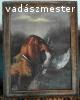 Vadász kutya 95 éves festmény Schneider 1923-ból 58*75 cm.